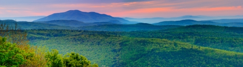 Vermont Mountains Panorama at Sunrise Mt Ascutney, Vermont, New England, USA